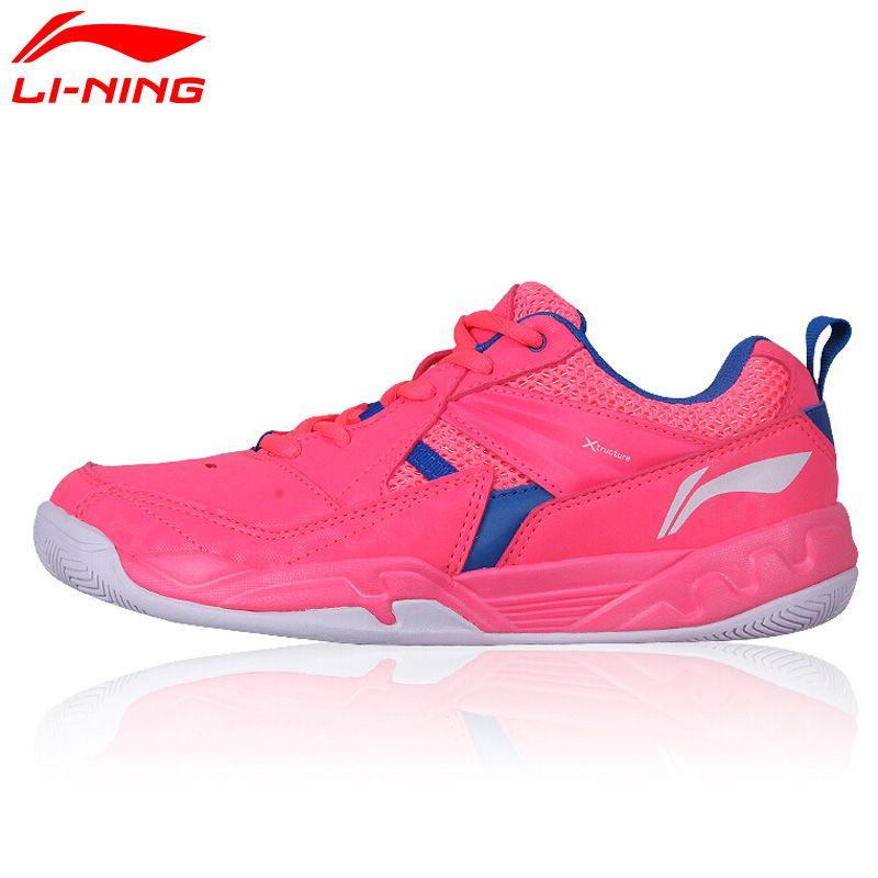 Mujeres Li-ning Zapatos del Bádminton Transpirable Forro Portátil Deportes Zapatos Cojín Zapatillas de Deporte AYTM072 XYY044