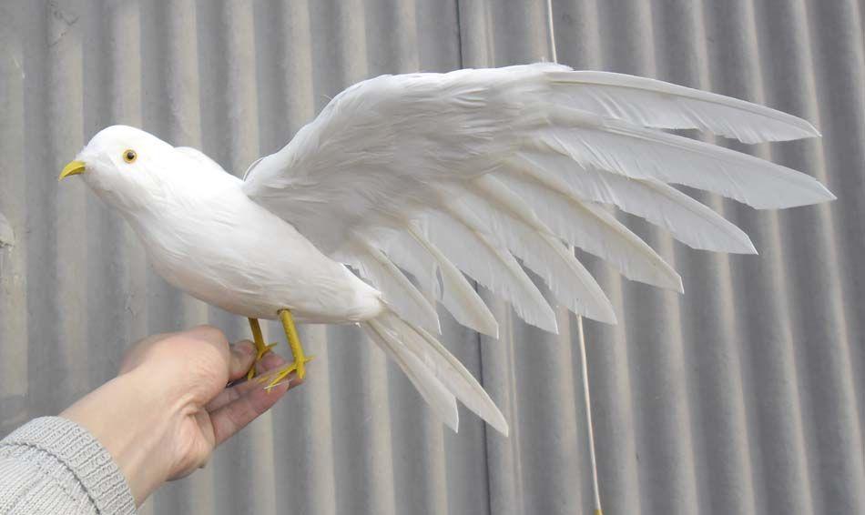 Прекрасный моделирование белые голуби игрушка полиэтилена и меха крылья чайки кукла подарок о 48x30 см c0157