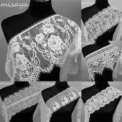 Misaya 3 ярдов/партия 6 стилей кружево с ресничками украшение цветок черный белый Высокое качество кружево ткань ручной работы Сделай Сам аксес...
