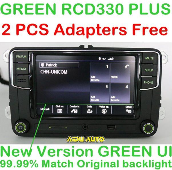 AIDUAUTO RCD330 Plus Radio Green Button light For Skoda Octavia fabia