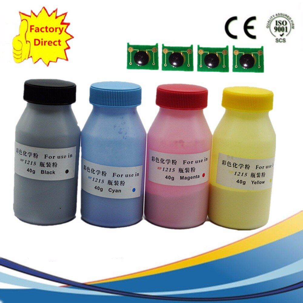 Refill Color Laser Toner Powder Kits + Chips For Canon LBP5500 LBP2510 For HP Laserjet Pro 4600 4610 4650 H9720A Q9720A Printer