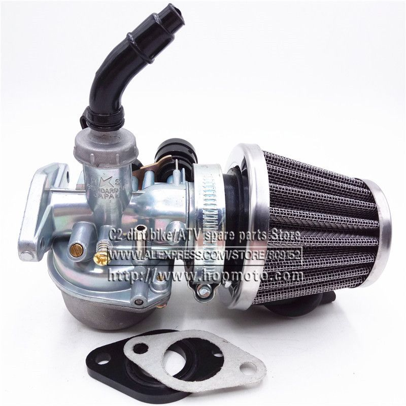 PZ19 19mm PZ22 22mm Motorcycle Carburetor 50cc 70cc 90cc 110cc 125cc ATV Dirt Bike Go Kart Carb Hand Cable choke 35mm Air filter
