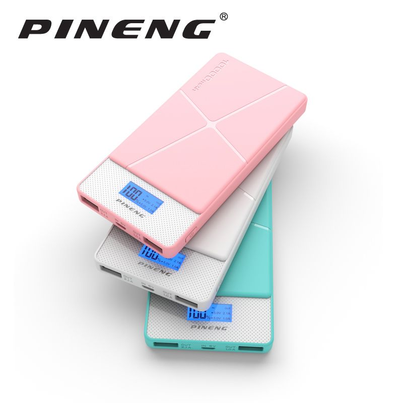 Pineng 10000 mah Energienbank PN-983 Bank Tragbare Batterie Mobile Li-Polymer Power mit Led-anzeige Für iosx iPhoneX Samsung