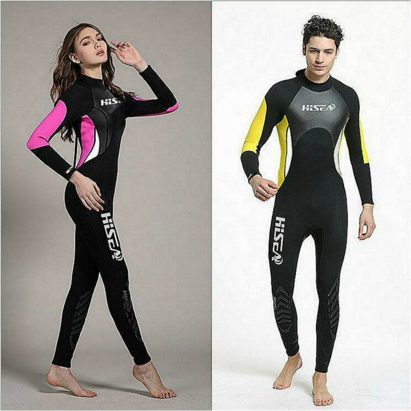 Hisea 3mm Neoprene jumpsuit Wetsuit Swimsuit For Diving suit Swimming Surfing Spearfishing,snorkeling Warm protective clothing