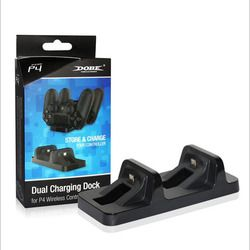 Dual Micro USB Ports Charging Holder Dock Charger Stand+USB Power Cable for Sony Playstation Dualshock 4 PS4 Joypad Controllers