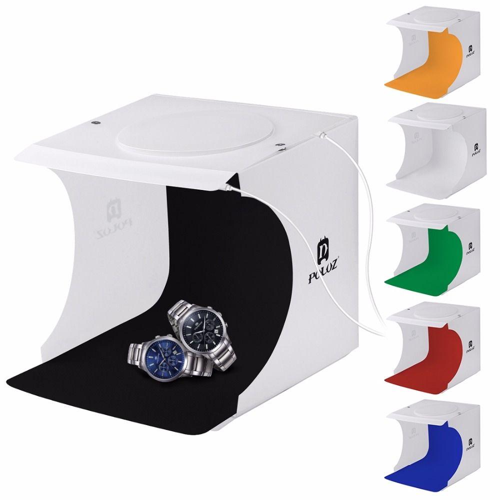 PULUZ 82LED Panels Folding Portable Light Box Photo Lighting Studio Shooting <font><b>Tent</b></font> Box Kit Emart Diffuse Studio Softbox lightbox