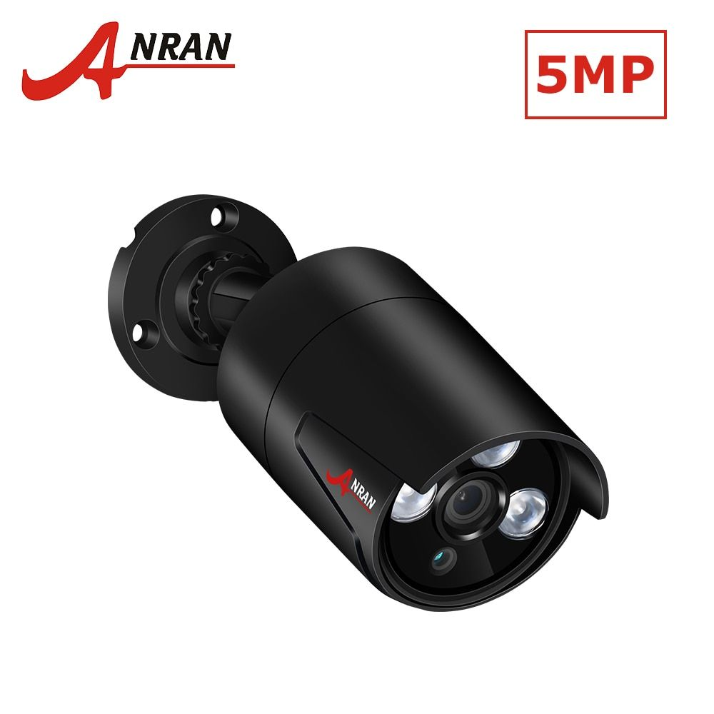 ANRAN Full HD 5.0MP IP Camera H.265 POE Security Camera With High Resolution 2560*1920 Outdoor Network Waterproof Video Camera