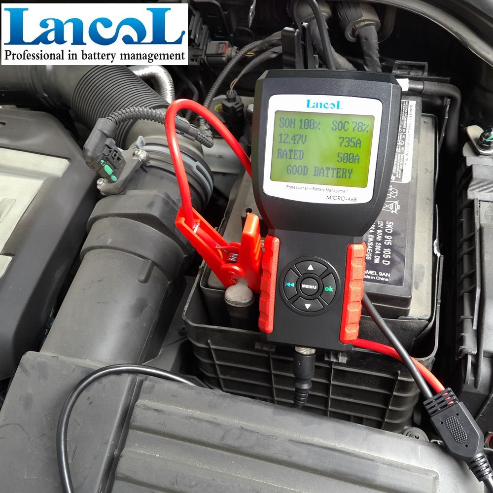 LANCOL MICRO-468 12V Car Battery Tester Diagnostic-tool SOH SOC CCA IR Car 12V start battery detection Vehicle Battery Analyzer