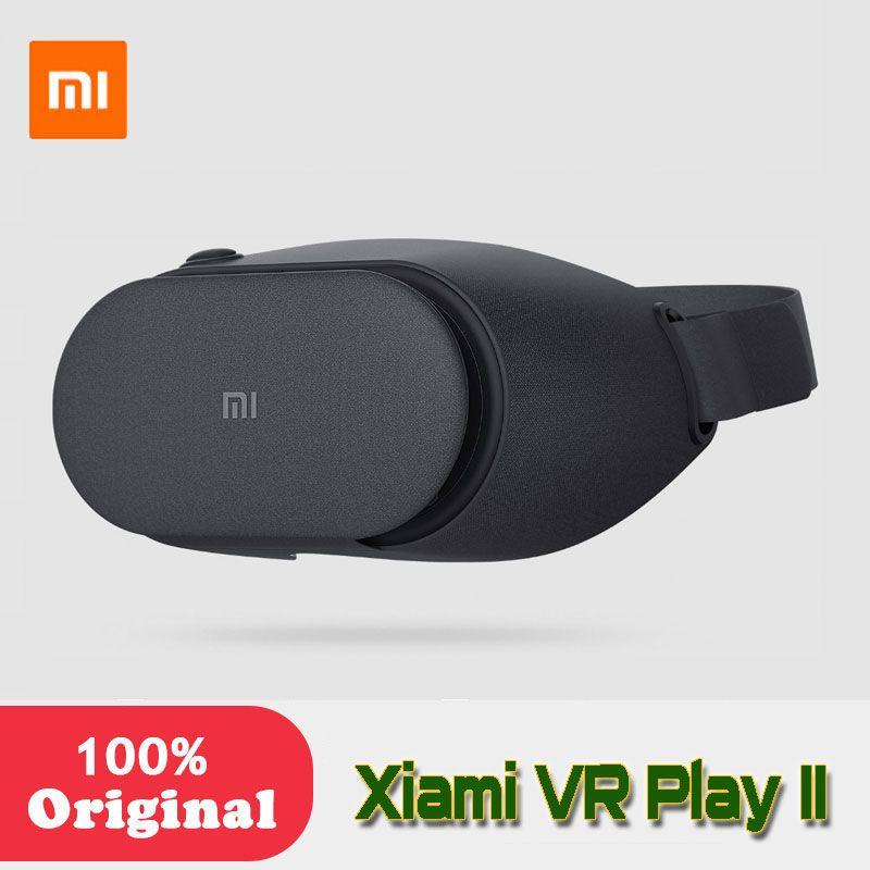 Original Xiaomi Mi VR Play 2 VR Box Virtual Reality 3D Glasses Cardboard Immersive For 4.7-5.7 Inches Smartphones