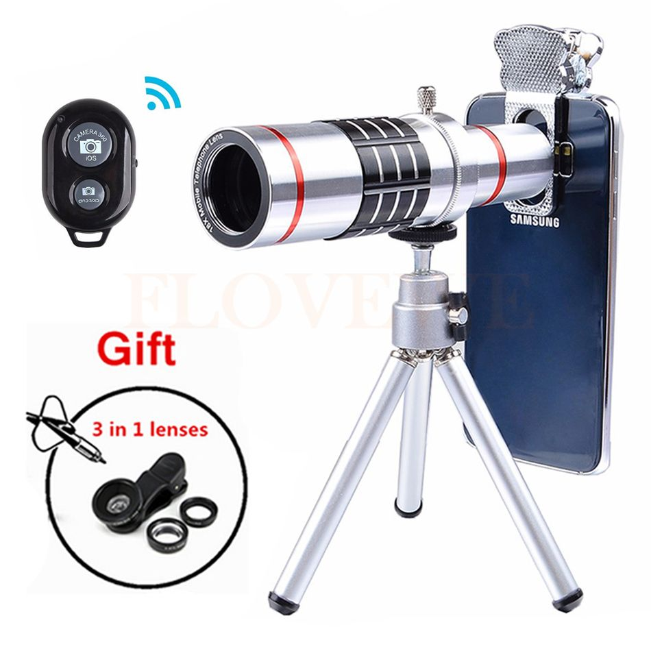 2017 18X Optical Lentes Telephoto Zoom Telescope lens Mobile phone Lenses Microscope For HUAWEI P9 P10 PLUS Honor8 9 V8 V9 mate9