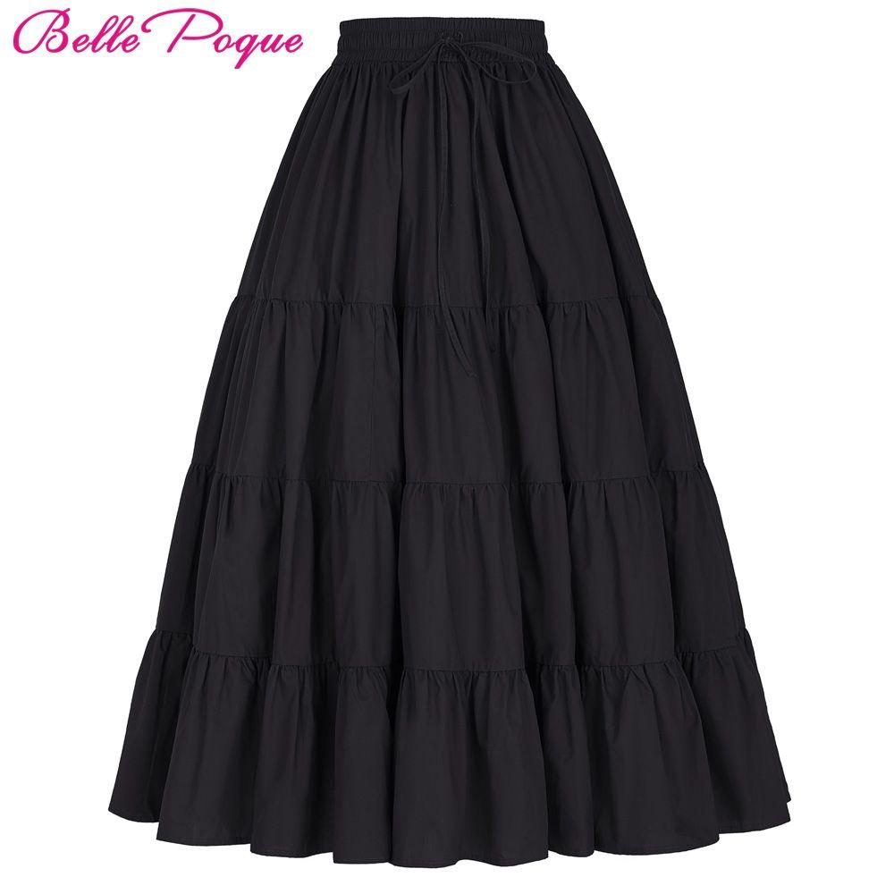 Юбка-пачка silps Свинг рокабилли петтикота широкий низ хлопок макси юбка длинная ретро юбка нижняя для Свадебные