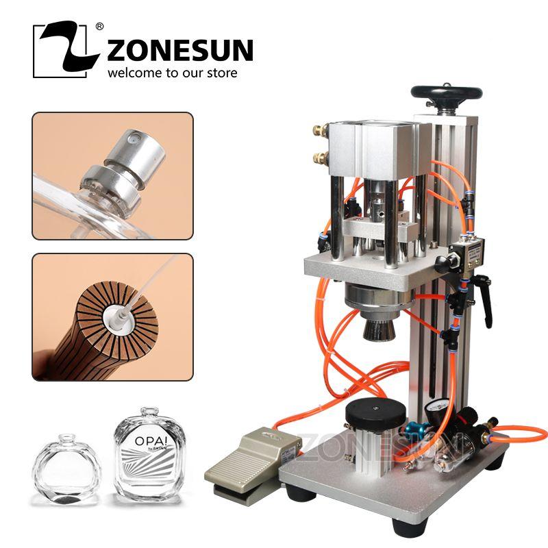 ZONESUN Parfüm crimpen maschine + capper + metall kappe presse maschine + capping maschine, parfüm crimper, spray crimper