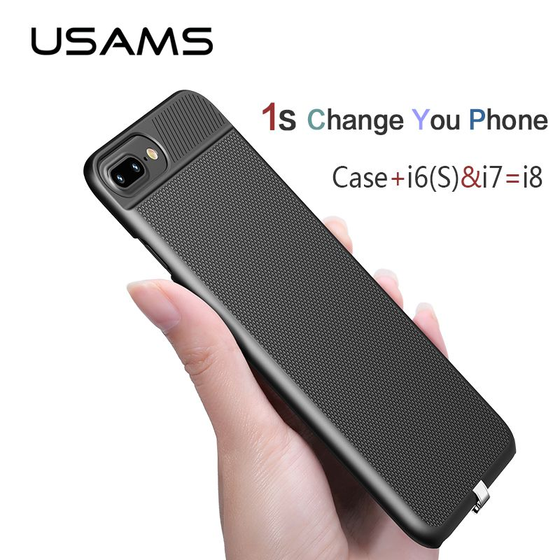 USAMS 2 in 1 Wireless Receiver Case Qi Receiver wireless charging for iphone 6 6s 7&Plus Phone case cover wireless charging case