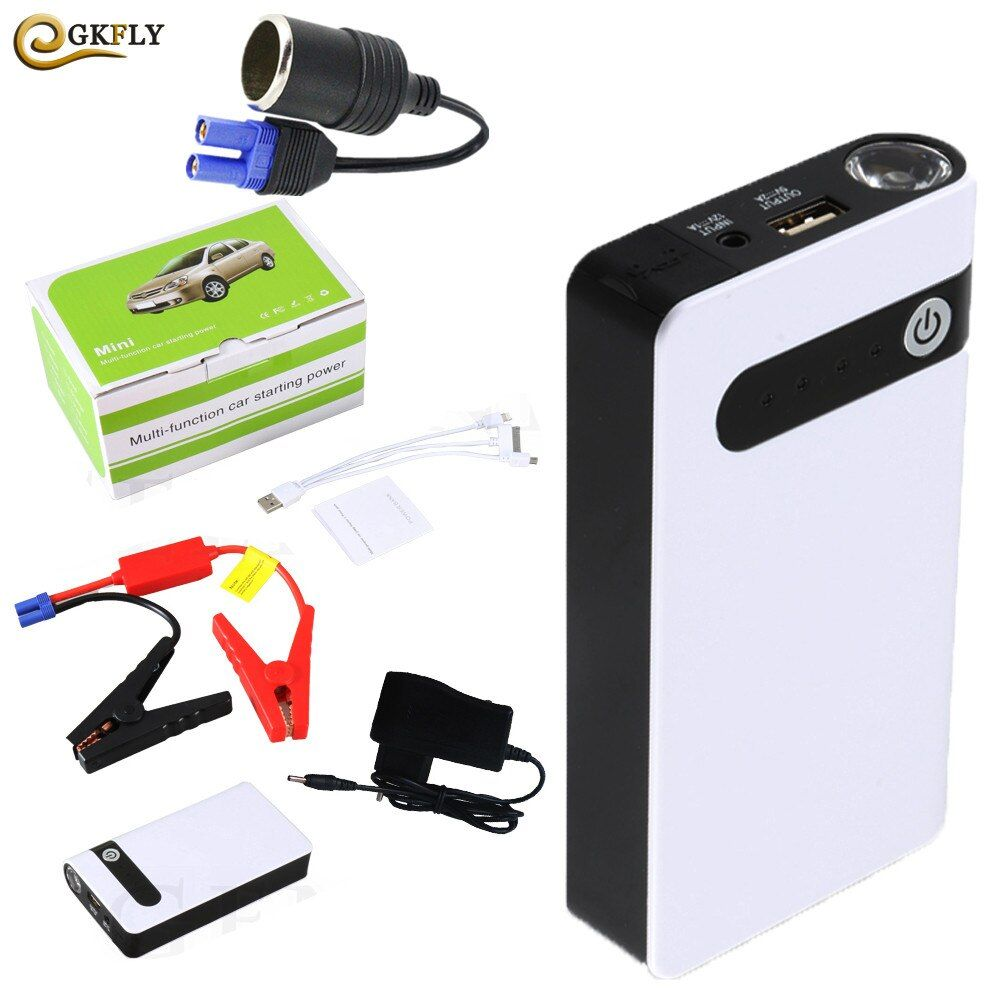 Promotion Multi-Function Mini Portable Emergency Battery Charger Car Jump Starter 12000mAh Booster Power Bank Starting Device