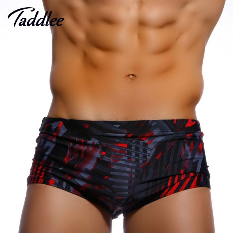 Taddlee Brand Men's Swim Boxers Trunks Surfing Board Shorts Sexy Low Waist Designed Man Swimwear Brazilian Cut Swimsuits Gay New