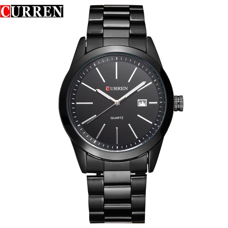 Curren Watches Men Luxury Brand Quartz Watch Mens Sports Quartz Watches Stainless Steel Military Army Wrist Watch Reloj Hombre