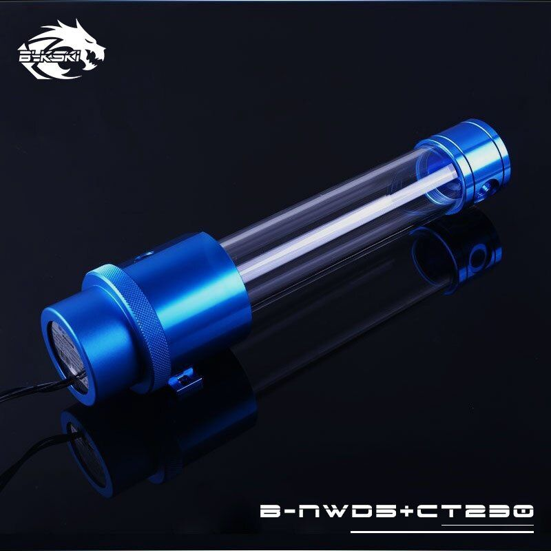 Bykski 18W D5 Combo Pump + Reservoir Maximum 5000RPM / Flow Lift 3.8 Meter / 1100L/H Water Cylinder Tank Length 120/170/230mm