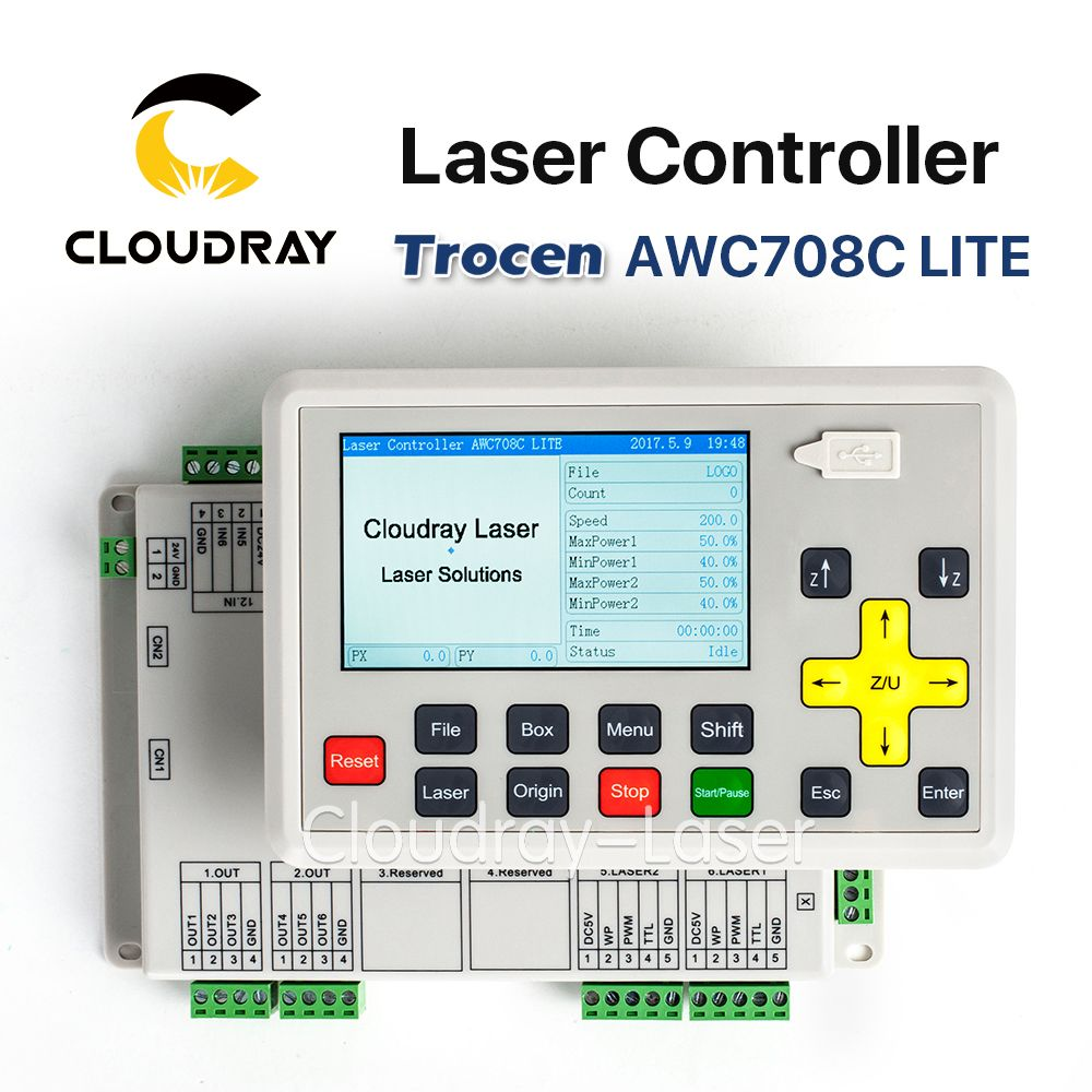 Cloudray Trocen Anywells AWC708C LITE Co2 Laser Controller System for Laser Engraving and Cutting Machine Replace AWC608C