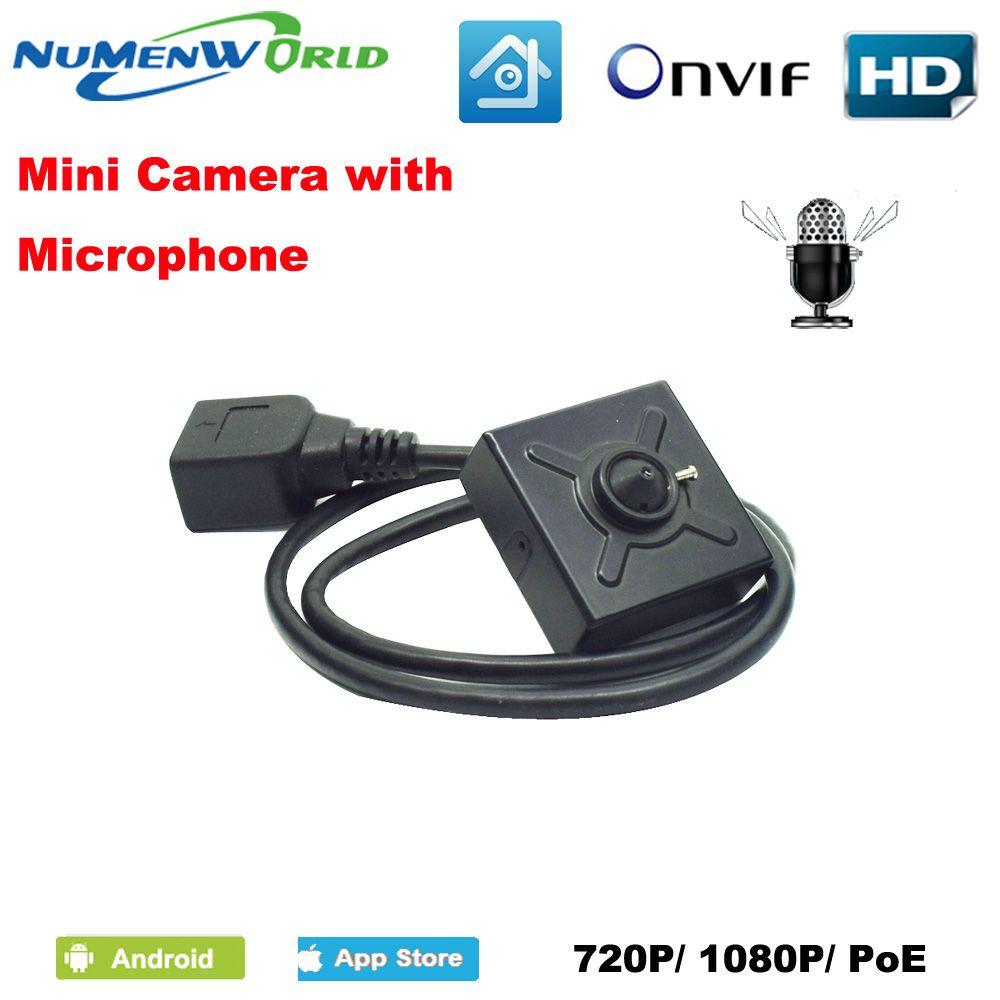 Numenworld IP kamera 720 p/1080 p POE HD webcam Mini CCTV Video Audio kamera ONVIF P2P RTSP Überwachung kamera für Home Innen