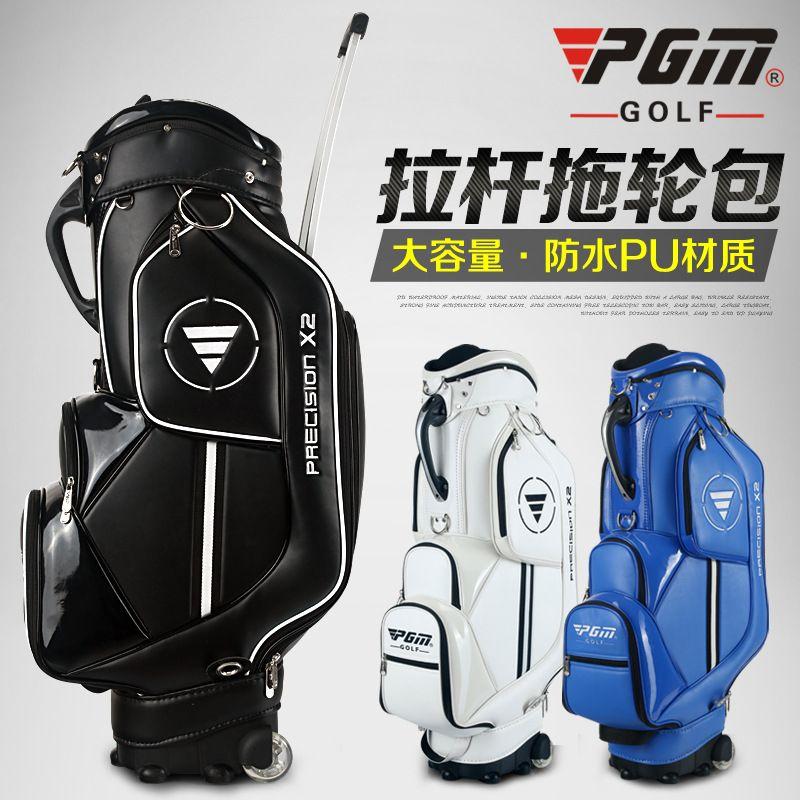 New PGM Golf Bag Male Women Trolley Standard Ball Bag Tug Clubs Large Women Handbag Capacity A4763