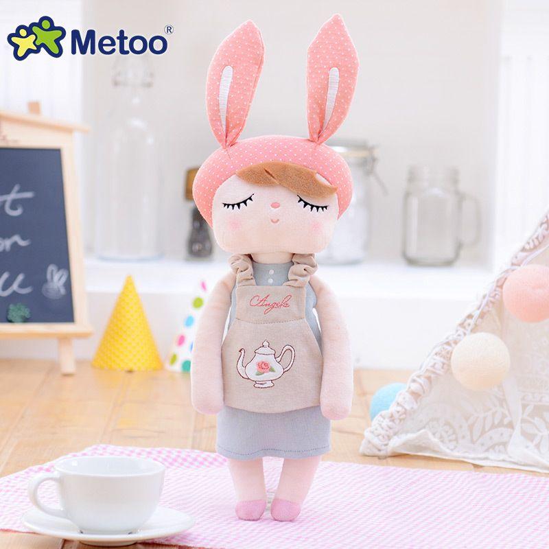 Accompany Sleep Retro <font><b>Angela</b></font> Rabbit Plush Stuffed Animal Kids Toys for Girls Children Birthday Christmas Gift 13 Inch Metoo Doll