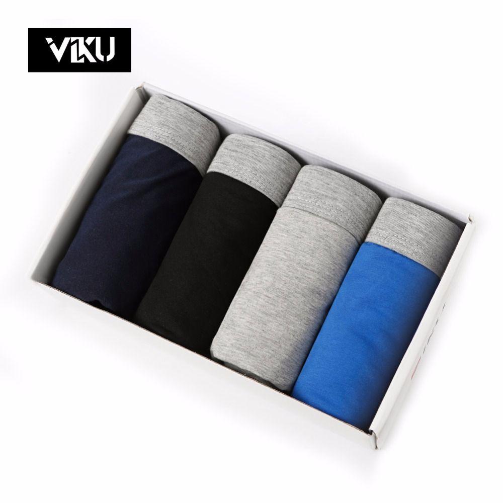 VIKU grande taille hommes Shorts U convexe Design Boxer hommes coton Modal sous-vêtements masculins hommes sous-vêtements 4 pcs/lot hommes Shorts 4XL 5XL