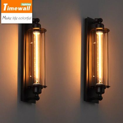 KM Loft Vintage Wall Lamps American Industrial Edison Lightis Bulb 40W E27 Holder Bedside Wall Fixtures Home Decoration Lighting