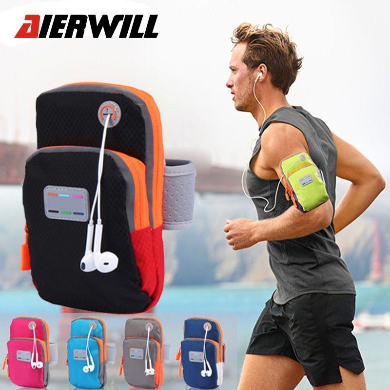 Aierwill 5,7 inch Laufender Tasche Arm Handgelenk Sport Band Handy Fall Laufen Jogging Wasserdicht Gym Arm Outdoor B Halter beutel