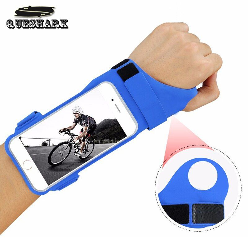 Outdoor Sport Running Phone Arm Bag Thumb Wrist Belt Armband Bag Waterproof Anti-theft Wrist bag Cycling Arm Band Pouch Wallets