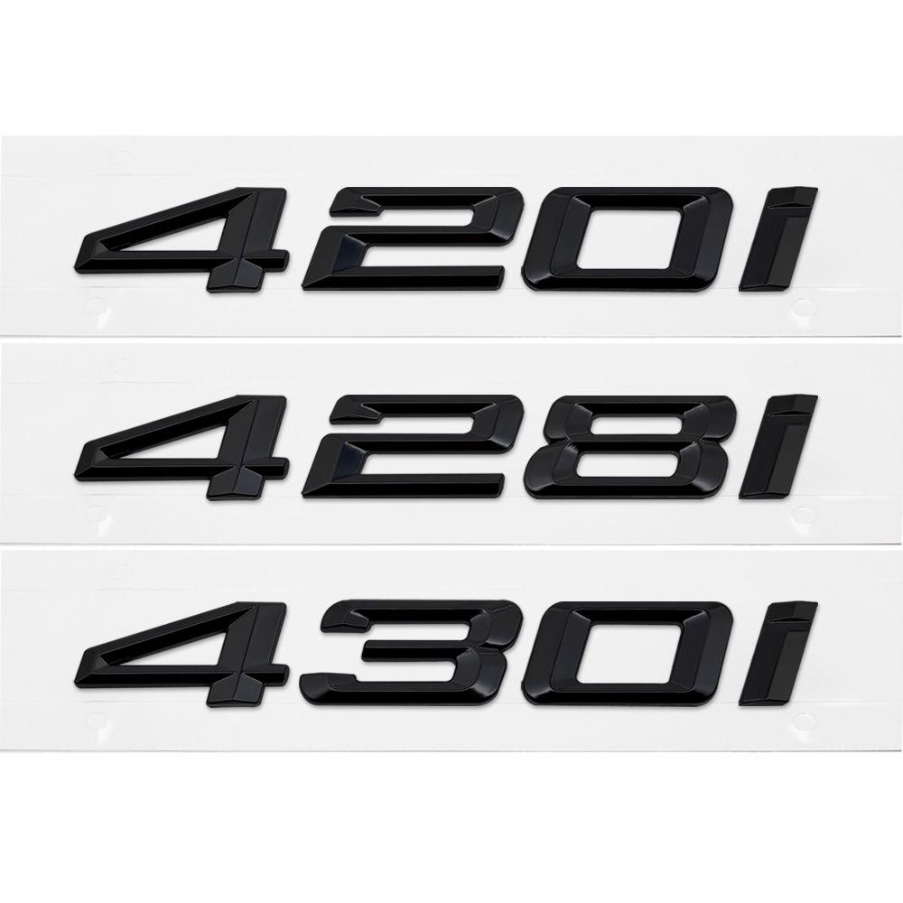 3D Black Tail letter Emblem Badge Sticker Accessories Styling For BMW 4 series F32 F33 F36 420i 428i 430i Car Decoration Decals