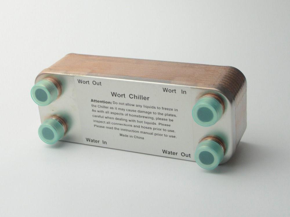 Refroidisseur de moût à 20 plaques, échangeur de chaleur à plaques, acier inoxydable 304, refroidisseur de brassage, 1/2