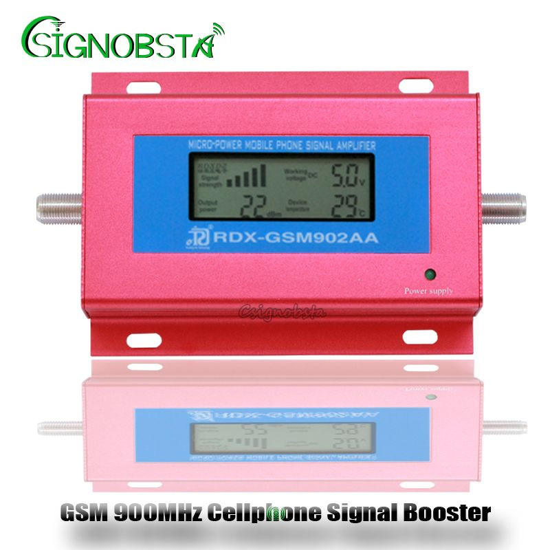 2018 New GSM Repeater 900MHz Mini LCD Display GSM900 <font><b>Cellular</b></font> Signal Repeater Booster 2G Cellphone Phone Amplifier Wholesale