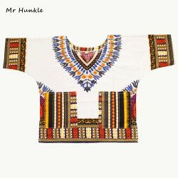 Mr Hunkle Children's New Fashion Design Traditional African Clothing Print Dashiki For Kids