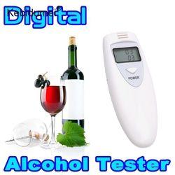 Kebidumei mini profesional alcohol tester digital policía alcohol tester analizador gadget para el conductor Conducción Segura