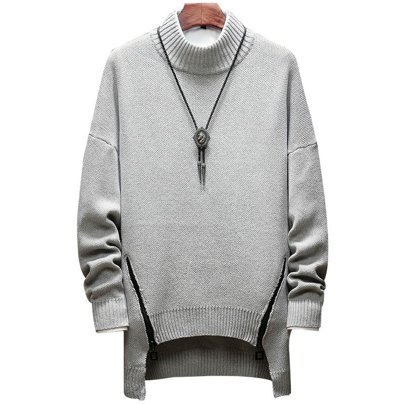 zipper winter sweater men clothes 2018 fashion warm mens sweater for men pullover jumper sueters SB73 loose solid M-5XL