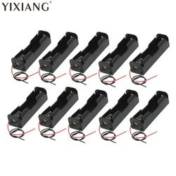 YIXIANG 5pcs/lot Plastic Battery Holder Storage Box Case 18650 Battery With Wire Leads 3.7V Clip Type 18650 Battery Holde