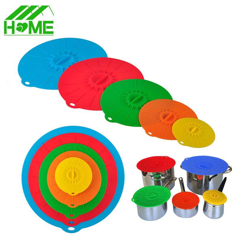 Couvercle universel en silicone couvercle d'aspiration bol à micro-ondes casserole tasse pots de bouteille étirer couvercles de nourriture couvercles de cuisson pour outils de cuisine