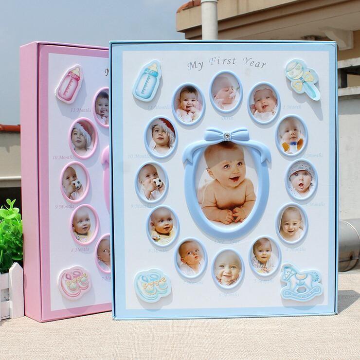 Nouveau 8 pouces 6 pouces bébé Photo Album cadeau anniversaire présent photos De Fotografia enfants grandir bricolage Interstitials