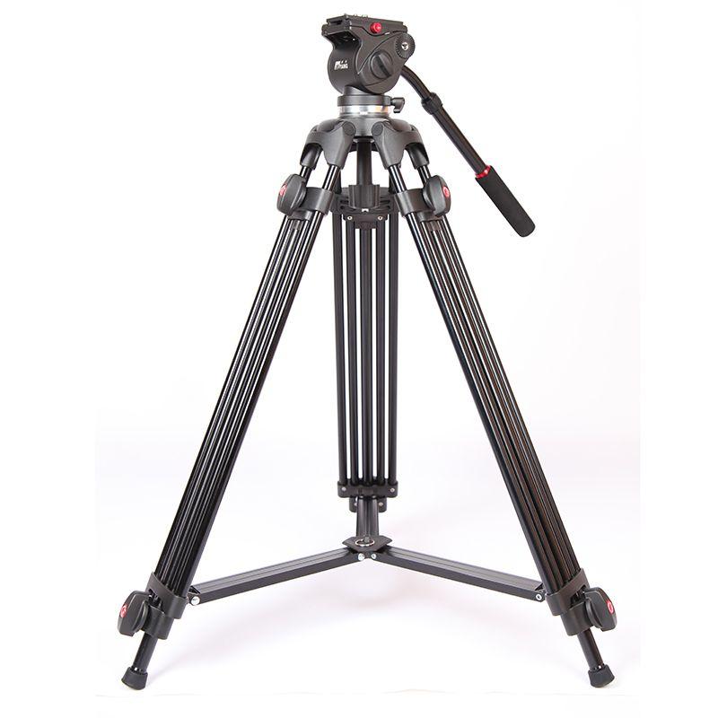 JIEYANG JY0508 JY-0508 JY0508B Professionnel trépied de caméra trépied vidéo/Dslr Trépied Tête Fluide D'amortissement vidéo avec sac pour trépied
