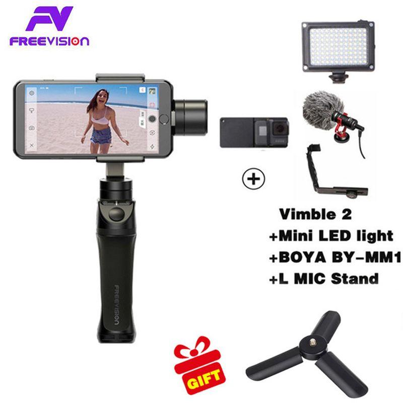 Freevision Vilta-M 3-axis Handheld Gimbal Smartphone Stabilizer for iPhone X 5 6s 8 Samsung GoPro HERO5 4 3 Yi 4K pk osmo 2 dji