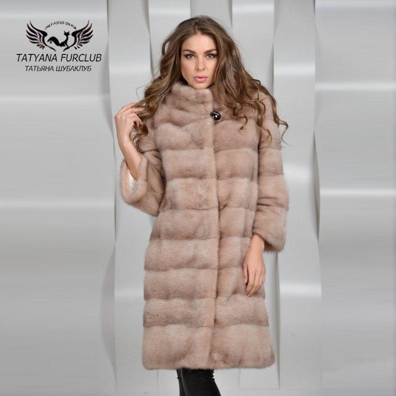 Tatyana Furclub Ganze Haut Nerzpelzmantel, Pelzmantel Pelz, Mode Femal Qualität Luxuriöse Nerz Mantel, frauen Nerz Pelzmantel