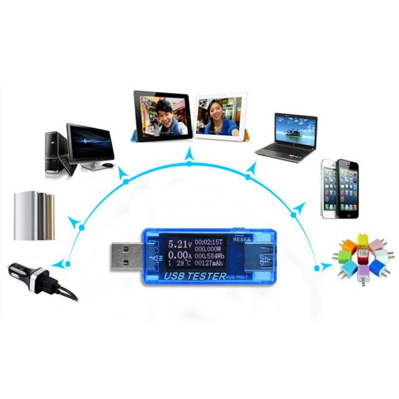 4V-30V 0-5A USB Tester Current Voltage Digital Dispay Charger Capacity Doctor Quick Charge Power Bank Meter Voltmeter KWS-MX17