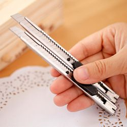 Mignon Kawaii Acier Inoxydable Couteau Métal Coupe-Papier Couteau D'art Pour Enfants Cadeau Fournitures Scolaires Étudiant 3703