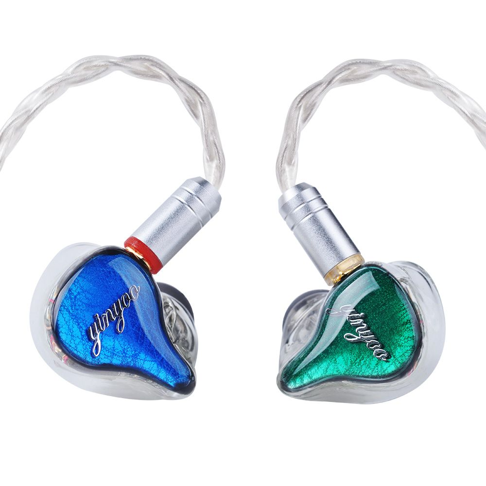 Yinyoo HQ10 10BA in Ear Earphone Custom Made Balanced Armature Around Ear Earphone Headset Earbuds With MMCX Same as QDC Shell