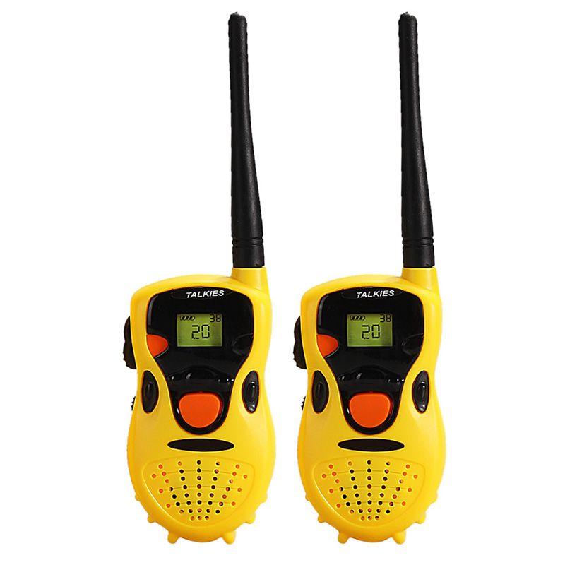 2 Unids Niños Talkies Walkie Talkies de Mano Juguetes Niños Regalos Divertidos Juegos Educativos Juguetes Electrónicos Amarillo
