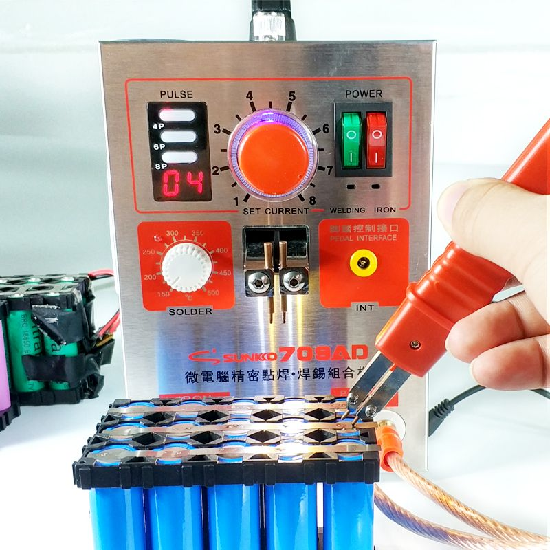 SUNKKO 709AD Spot welder 2.2KW High power battery digital display mobile soldering Spot welder 18650 Pulse spot weld 110 230V