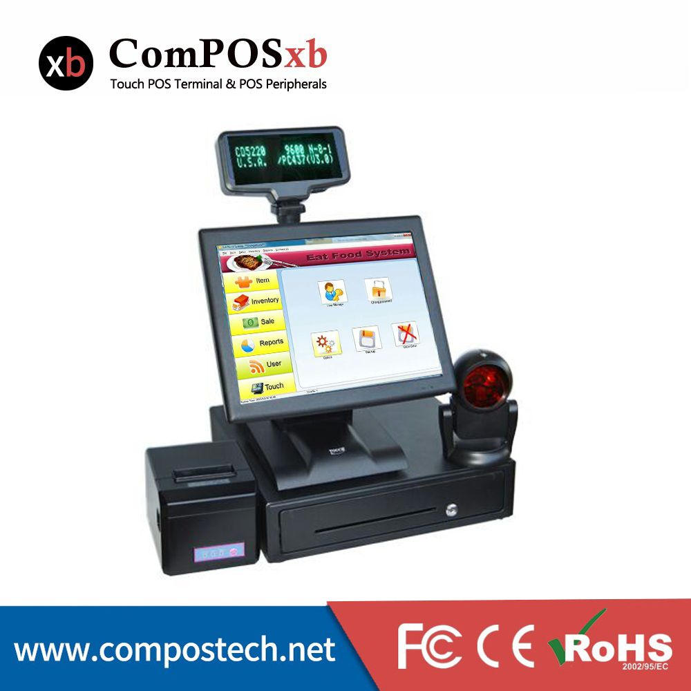 Hot Sale 15 Inch TFT LED Factory Cash Register ForRetail sales terminal POS OEM All In One Epos Machine POS2119