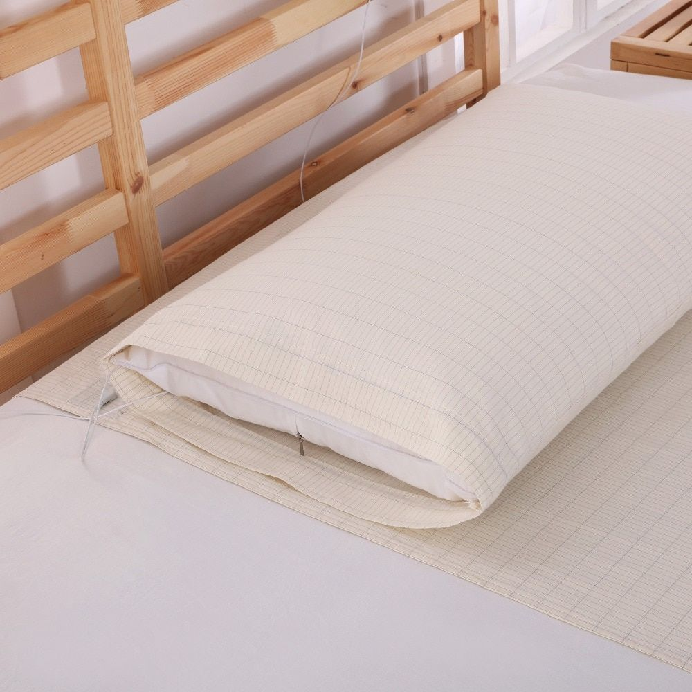Grounded Conductive kits For Health & EMF Protection Earthing Pillow Case 50*75CM
