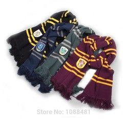 Харри поттер шарф шарфы для женщин Гриффиндор/Слизерин/Хаффлпафф/шарф с рисунком «гусиные лапки» Шарфы косплэй костюмы подарок на Хэллоуин
