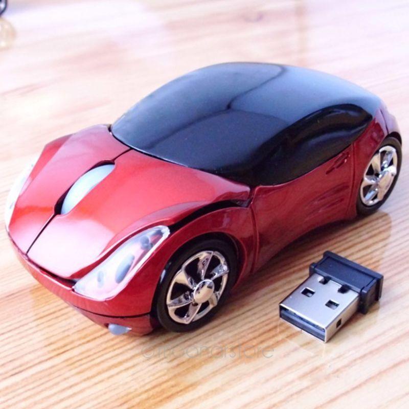 Freies Verschiffen pc laptop computer zubehör drahtlose maus mode super auto geformte maus 2,4 Ghz optische maus